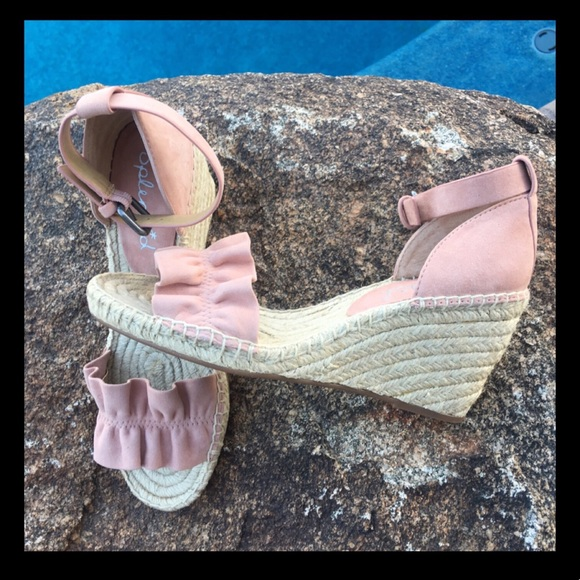 dbe28ab09a0 ❤️Sale❤️Gorgeous blush suede espadrille sandals NWT